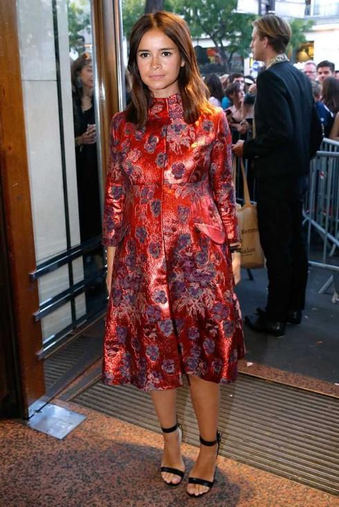 Biên tập viên thời trang Miroslava Duma tại show Jean Paul Gaultier