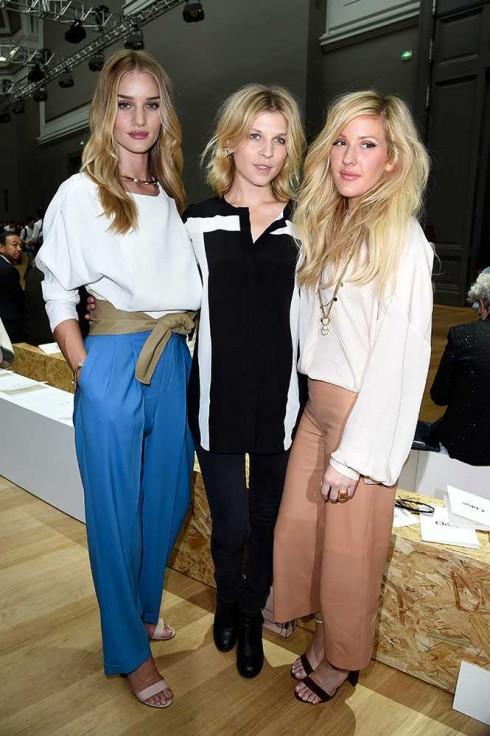 Người mẫu Rosie Huntington-Whiteley, Clemence Poesy & ca sĩ Ellie Goulding tại show Chloé