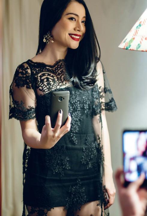 Đầm lót H&M, Đầm ren Ren By Tee