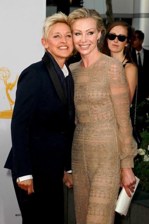Ellen và Portia de Rossi tại bữa tiệc hậu Oscar 2014 hôm 3/3