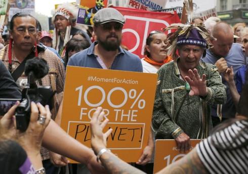 Leonardo DiCaprio dẫn đầu cuộc tuần hành kêu gọi chống biến đổi khí hậu ở New York hôm 21-9