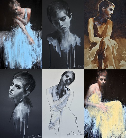 Những bức chân dung của Emma Watson do nghệ sỹ tài năng Mark Demsteader vẽ
