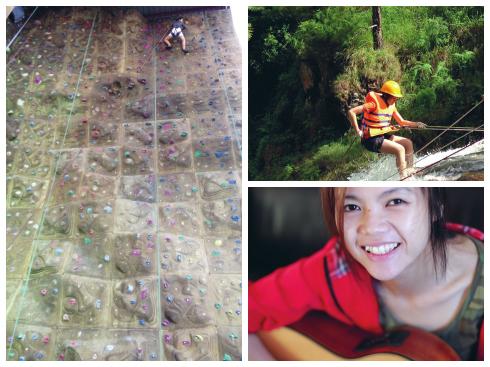 Nguyễn Ngọc Nhã Quỳnh, 1990, nhân viên công ty tổ chức sự kiện ProEvents, đam mê leo núi đá, vượt thác. Hiện đặt ra mục tiêu chinh phục đỉnh núi Kota Kinabalu trong mùa Xuân 2015.