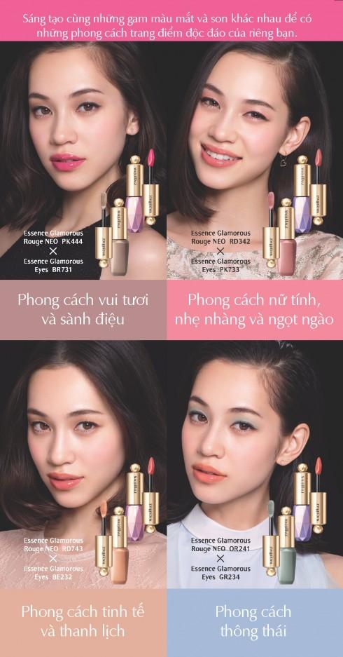 ellevn 4 cach trang diem voi shiseido