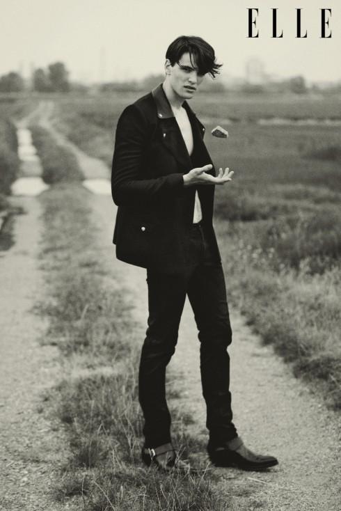 Áo khoác và bốt cổ ngắn Costume National Quần Jeans Saint Laurent