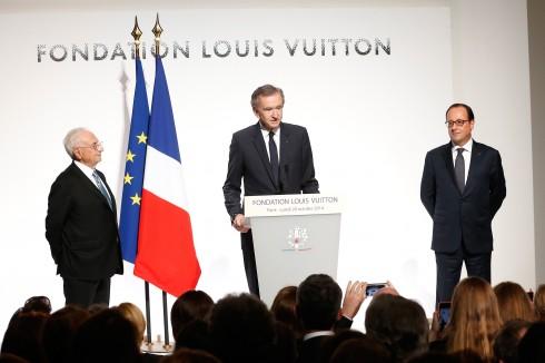 Bernard Arnault, Chủ tịch kiêm Tổng Giám đốc LVMH phát biểu tại sự kiện