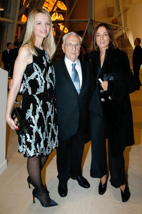 Delphine Arnault, Frank Gehry và Phoebe Philo