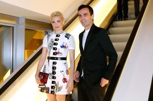 Nicolas Ghesquiere và Michelle Williams