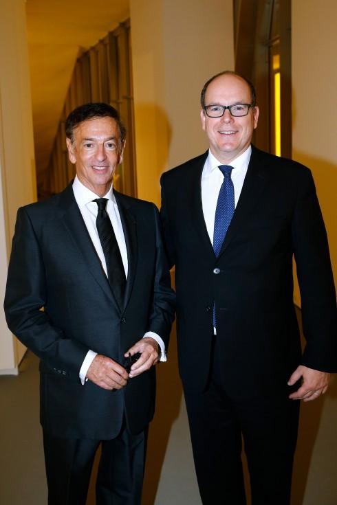 Hoàng tử Albert của xứ Monaco và Jean Paul Claverie