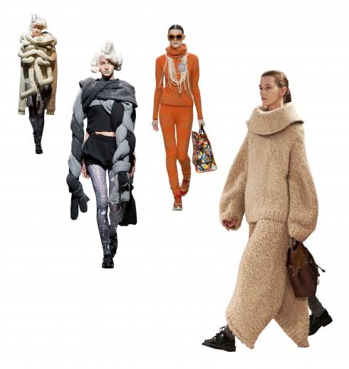 Từ trái qua: Comme Des Garcons, Comme Des Garcons, Chanel, The Row