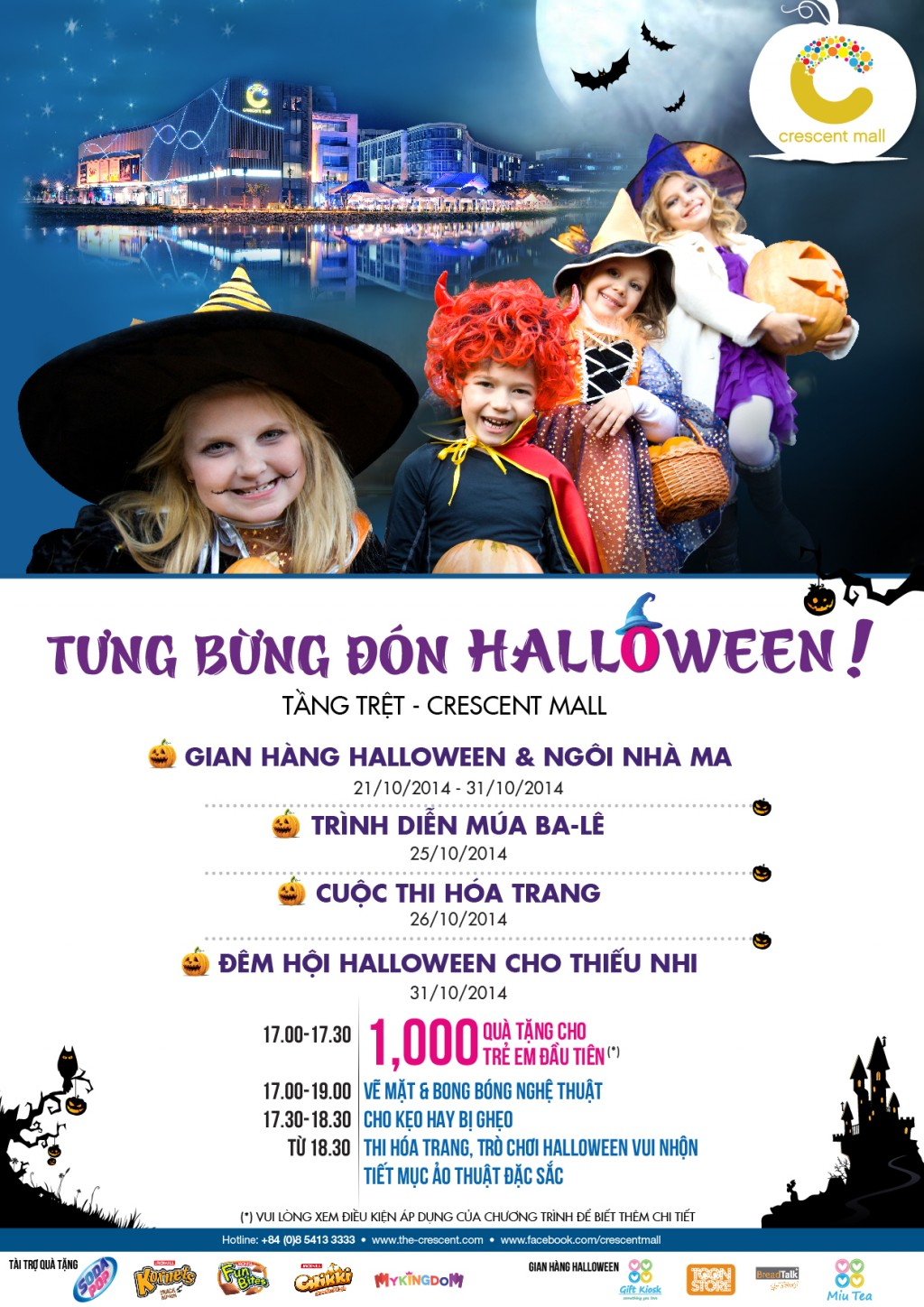 ellevn lich su kien halloween crescent mall