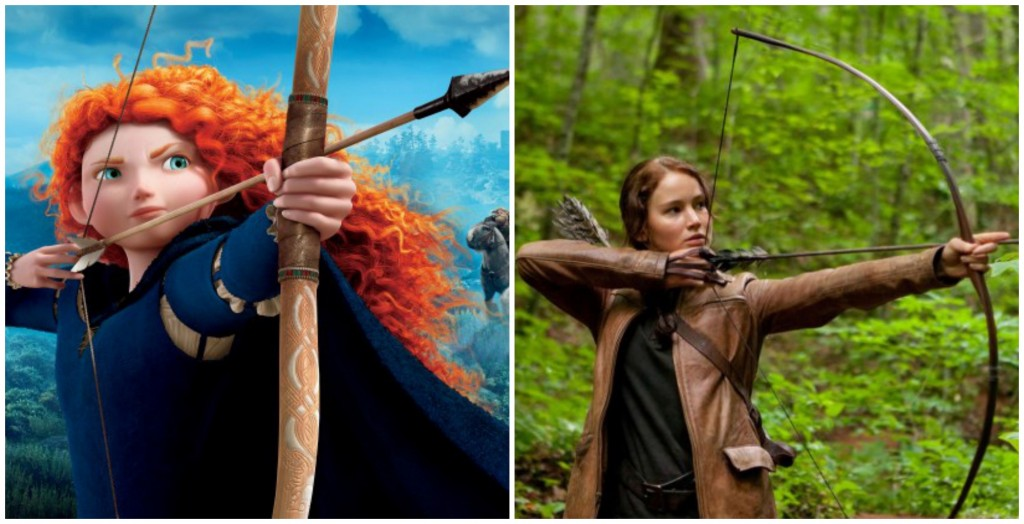 Sự thông minh, bản lĩnh và khả năng bắn cung là một vài điểm chung nổi bật nhất giữa J-Law và công chúa tóc xù Merida