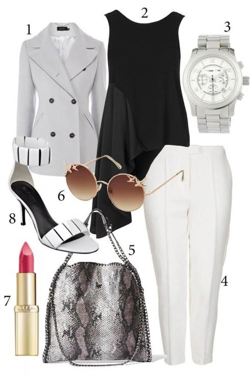 Thứ 6: Với thời tiết se lạnh, bạn có thể chọn những chiếc áo blazer dáng dài và nhớ hãy đi cùng giày cao gót để