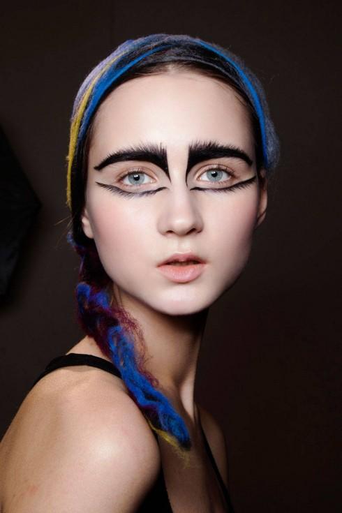 Yohji Yamamato<br/>Halloween Makeup Inspiration From Runway | Yohji Yamamato FW2014