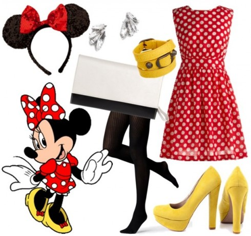 Chiếc đầm chấm bi đỏ đặc trưng của Minnie