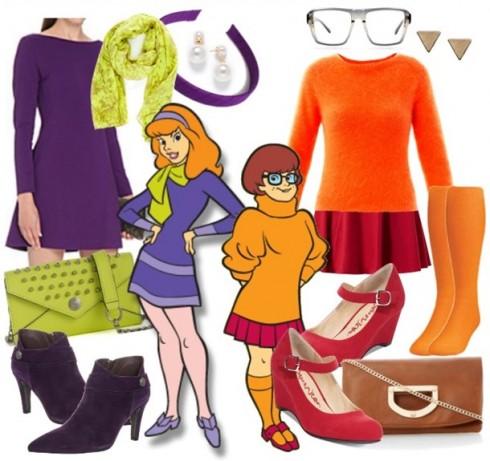 Trang phục đặc trưng của Daphne & Velma trong Scooby Doo