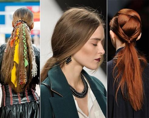 Với ai thích một chút phá cách có thể biến tấu khá nhiều kiểu từ mái tóc đuôi ngựa nguyên thuỷ.