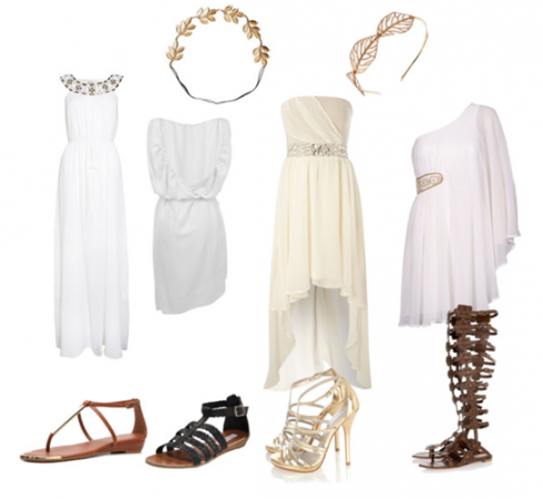 Làm nữ thần Hy Lạp với đầm voan trắng & sandals chiến binh