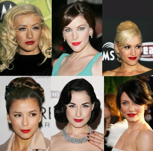 Bờ môi đỏ thắm cũng là lựa chọn của nhiều ngôi sao Hollywood.