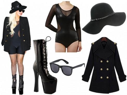 Trang phục đen bó sát như Lady Gaga