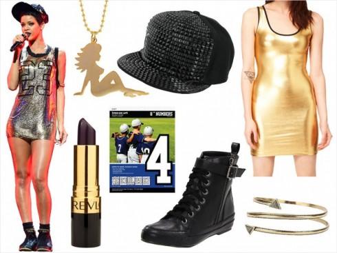 Rihanna cá tính với trang phục sporty