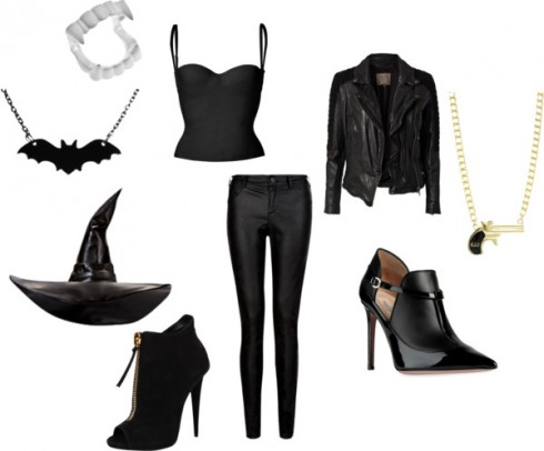 Trang phục bằng da đen giúp tạo vẻ huyền bí và nguy hiểm như nàng phù thủy hay ma cà rồng