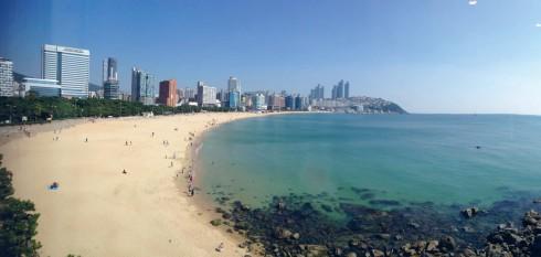 Buổi chiều trên bãi biển Haeundae, bãi biển nổi tiếng nhất Hàn Quốc