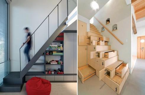 Sử dụng tối đa không gian bên dưới cầu thang.