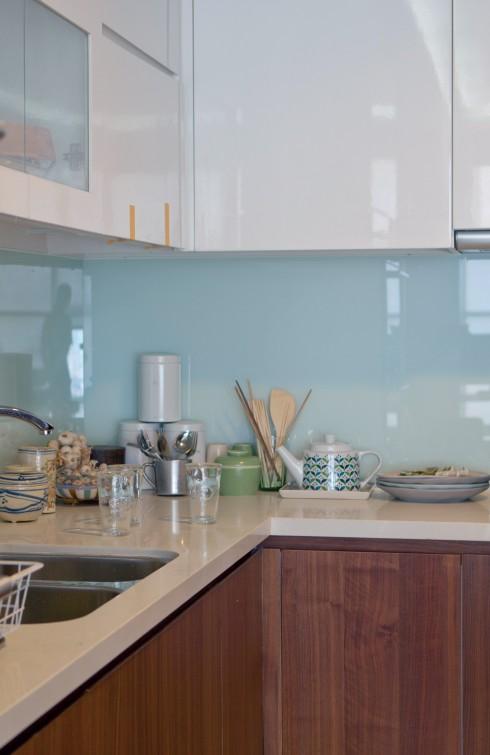 Vật dụng trong bếp là một tập hợp tinh tế các nhãn hiệu từ Đan Mạch, Đức và Việt Nam.