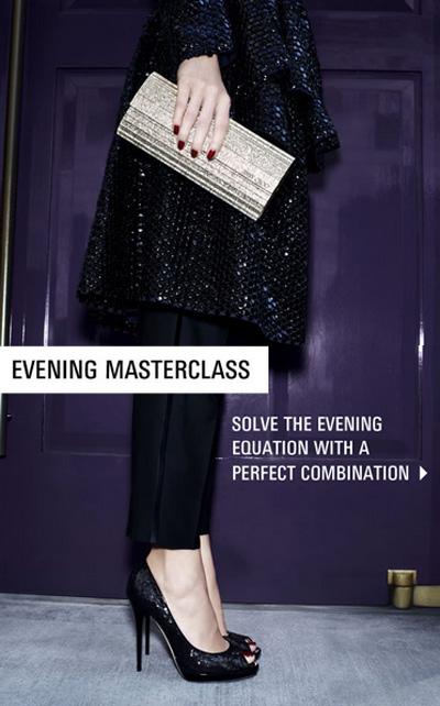 Email dẫn tới trang mua bộ sưu tập Evening Masterclass của Jimmy Choo