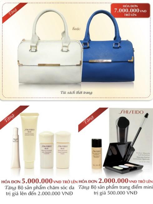Sản phẩm quà tặng khuyến mãi của Shiseido