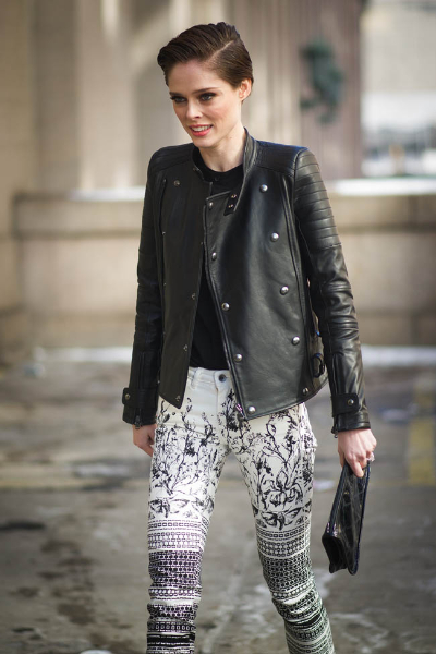 <br/>NEW YORK, NY - FEBRUARY 11: Coco Rocha seen on the Streets of Manhattan on February 11, 2014 in New York City.  (Photo by Timur Emek/Getty Images)