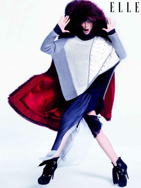 Áo khoác lông Dolce & Gabbana, Áo sweater và đầm Prabal Gurung, Giày Alexander McQueen