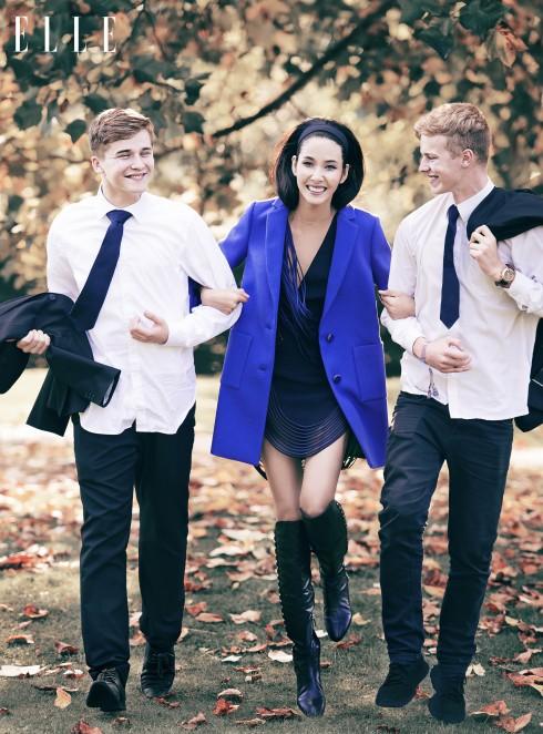 Đầm và áo khoác Stella McCartney, Bốt Guess Jeans