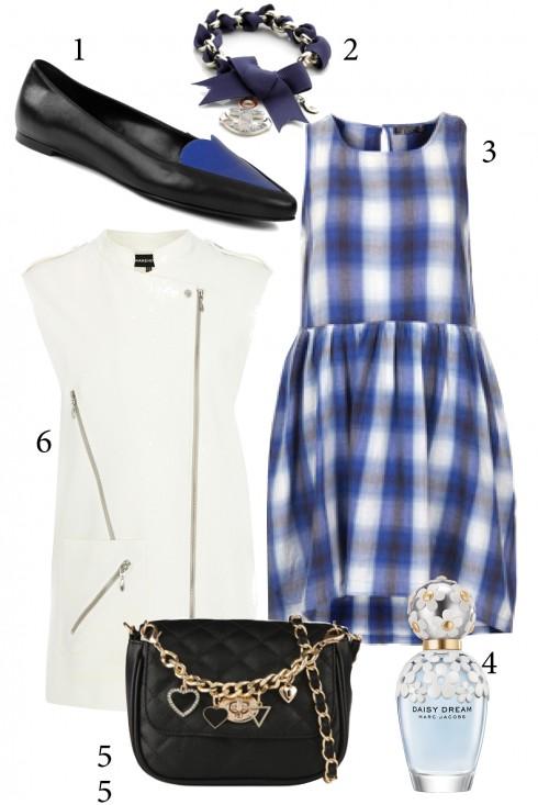 Thứ 3:  Nhẹ nhàng với váy xòe xanh dương<br/>1. CHARLES&amp; KEITH 2. ACCESSORIZE 3. TOPSHOP 4. MARC JACOBS 5. ALDO 6. WAREHOUSE