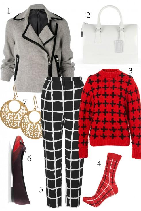 Thứ 4: Trẻ trung với áo jacket và áo sweater<br/>1. MANGO 2. FURLA 3,4,5. TOPSHOP 6. CHARLES &amp; KEITH 7. ACCESSORIZE
