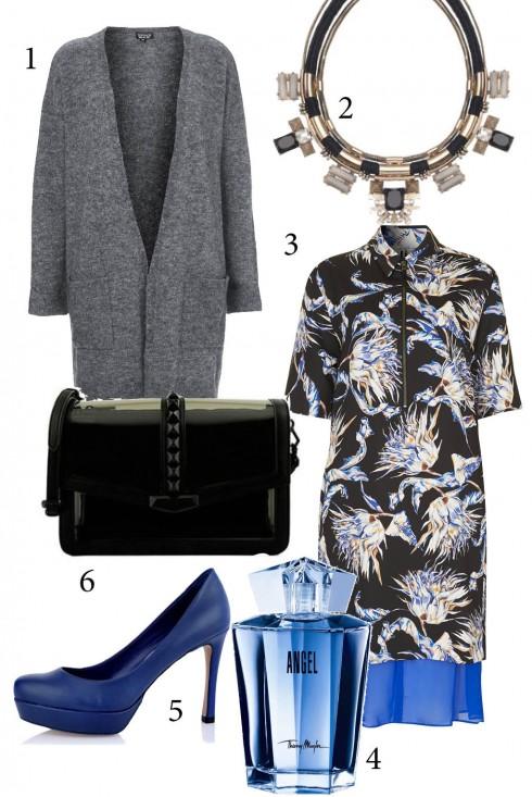 Thứ 7: Dáng người gầy bạn nên chọn mẫu váy họa tiết bồng bềnh với các đường sun nhún trên váy. Áo khoác dài cũng sẽ khiến bạn trông đầy đặn hơn.<br/>1. TOPSHOP 2. ACCESSORIZE 3. TOPSHOP 4. THIERRY MUGLER 5, 6. CHARLES &amp; KEITH