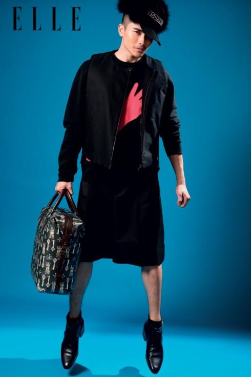 Áo sweater LANVIN (RUNWAY) Áo khoác, Quần JIL SANDER (RUNWAY) Giày TOD'S Túi DOLCE & GABBANA (NASTRO)