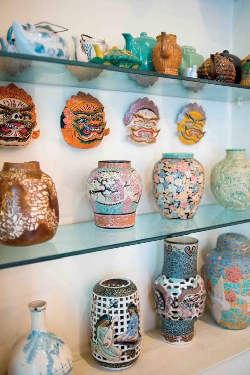 Bộ sưu tập gốm hiếm có được chủ nhân chăm chút gìn giữ hàng chục năm nay.