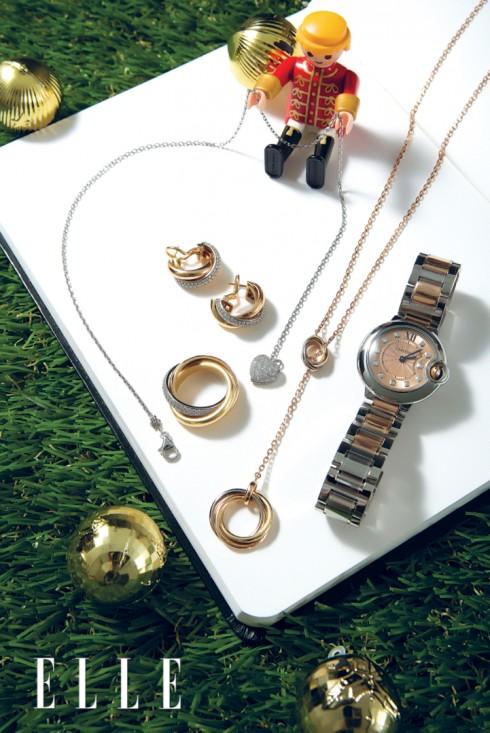 Đồng hồ, dây chuyền, nhẫn và hoa tai CARTIER
