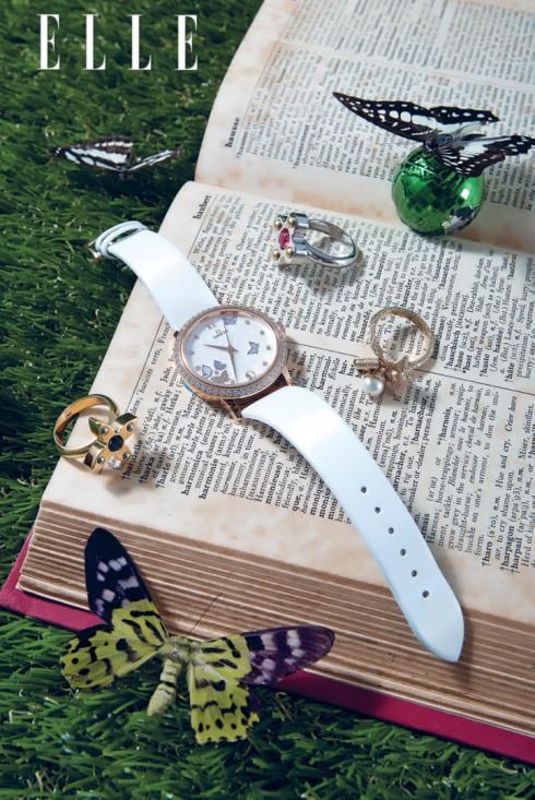 Từ trái sang 1. Nhẫn LOUIS VUITTON <br>2. Đồng hồ OMEGA<br>3. Nhẫn LOUIS VUITTON <br>4. Nhẫn DIOR