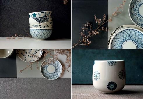 Những họa tiết tinh tế trên các sản phẩm gốm.