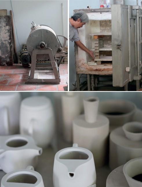 Rời bàn vẽ, Bạch Văn Nhân làm việc bên máy nghiền, lò nung, đảm nhiệm vai trò là người thợ gốm hoàn hảo.