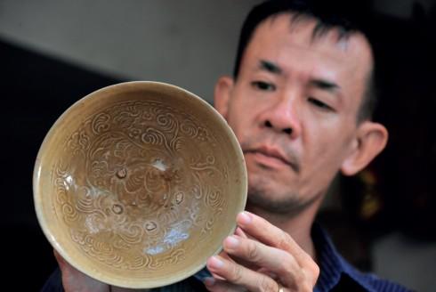Hoa văn trên chén gốm thời Trần (1225 – 1400)