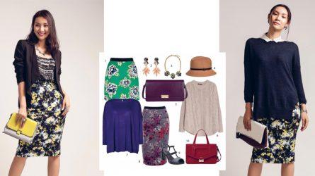 1 món đồ 2 phong cách: Chân váy in hoa