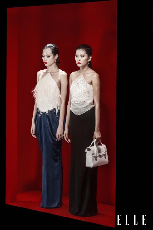 Trang phục Lâm Gia Khang, Hoa tai Swarovski, Túi Versace