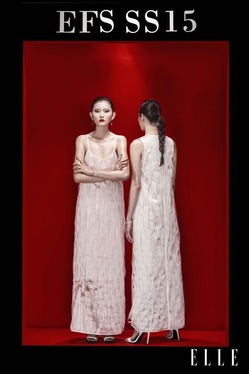 Trang phục Tú Nguyễn, Hoa tai, Vòng tay Swarovski, Giày Aldo