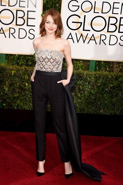 Emma Stone mặc bộ jumpsuit Lanvin