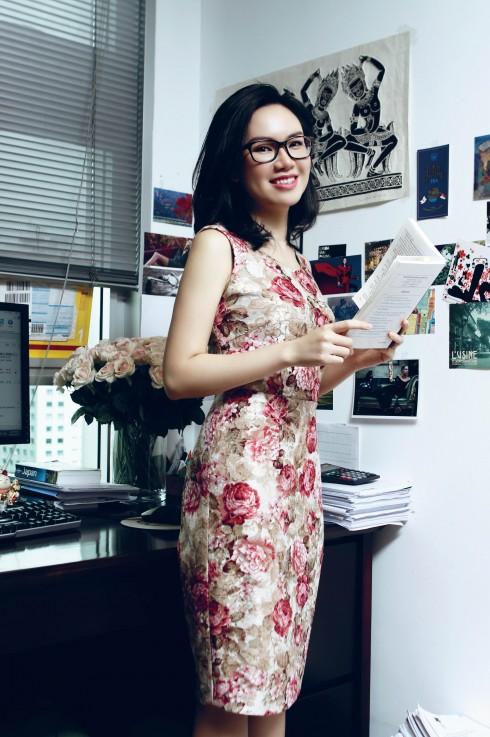 Xuân Quỳnh yêu thích những chiếc đầm đơn giản nhưng chỉn chu để tôn lên nét nữ tính