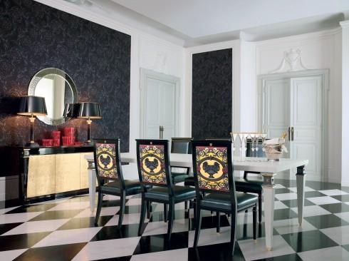 Cảm hứng Baroque và các họa tiết đặc trưng của nhà Versace làm nên không gian sống hiện đại và cao cấp của Versace Home